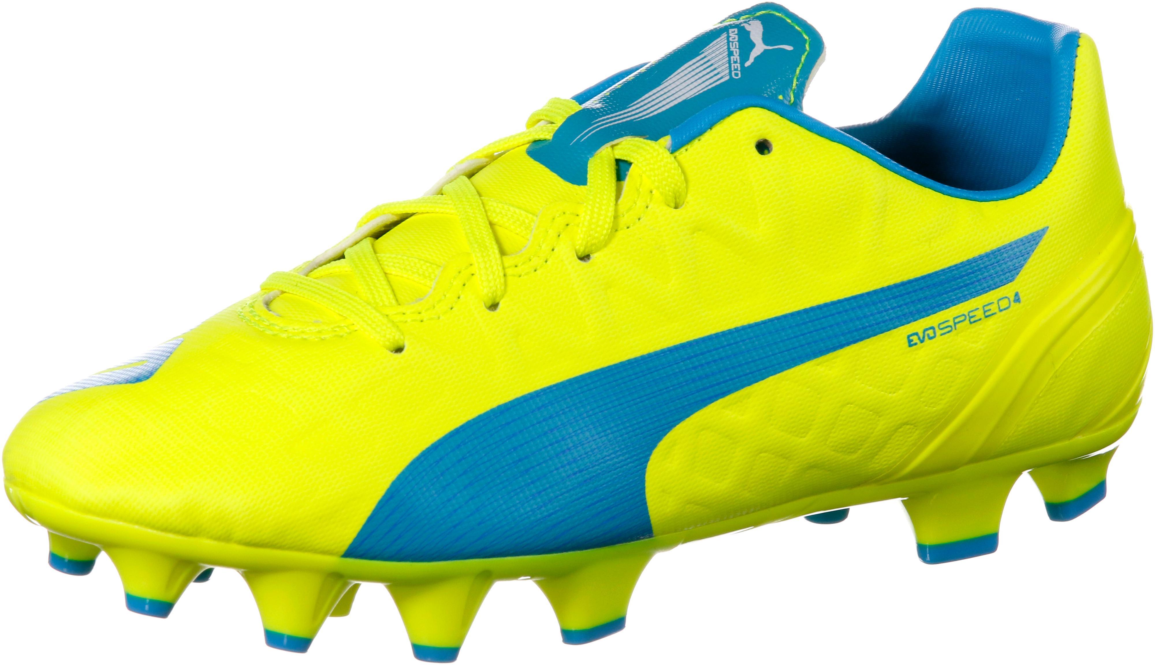 PUMA evoSpeed 4.4 FG Fußballschuhe Kinder gelb/blau im Online Shop von  SportScheck kaufen