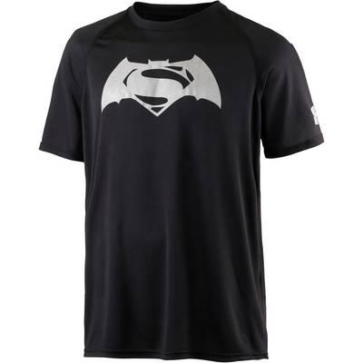 Under Armour HeatGear alter Ego Superman vs. Batman Funktionsshirt Herren schwarz