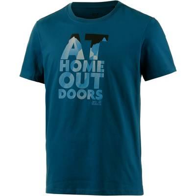 Jack Wolfskin Slogan Printshirt Herren blau