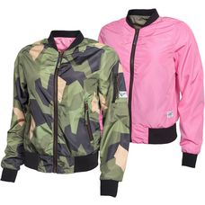 Colour Wear Pebble Bomberjacke Damen oliv/camo/pink
