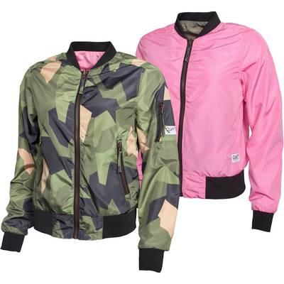 Colour Wear Pebble Bomberjacke Damen oliv/camo/pink