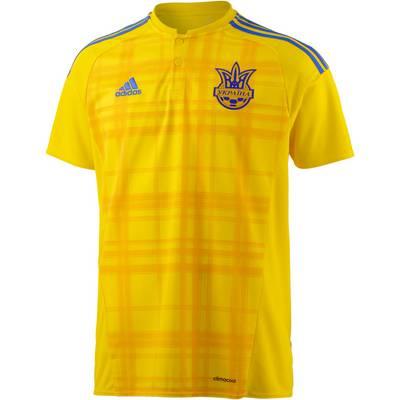 adidas Ukraine EM 2016 Heim Fußballtrikot Herren gelb