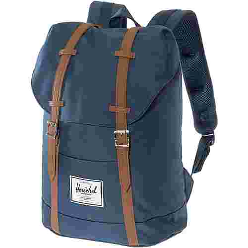 Herschel Rucksack Retreat Daypack navy-tan synthetic leather