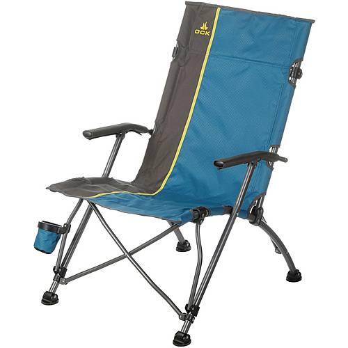 OCK Camper Luxus Campingstuhl blau