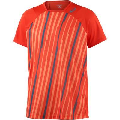 ASICS Athlete Tennisshirt Herren orange/allover