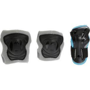 K2 Performance W Pad Set Protektorenset Damen grau/türkis