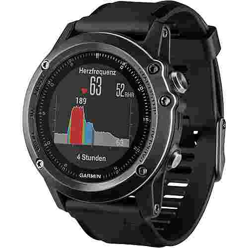 garmin fenix 3 hr saphir grau sportuhr schwarz im online. Black Bedroom Furniture Sets. Home Design Ideas