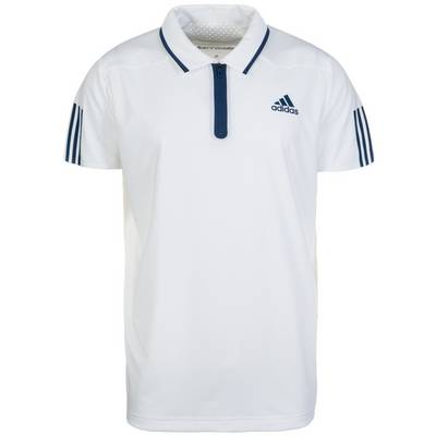 adidas Barricade Tennis Polo Herren weiß / dunkelblau