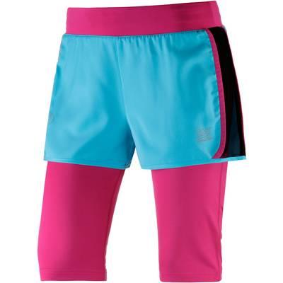 TAO Zentourion Laufshorts Damen pink/hellblau