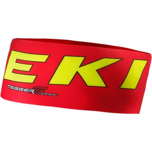 LEKI Race Shark Stirnband rot/gelb