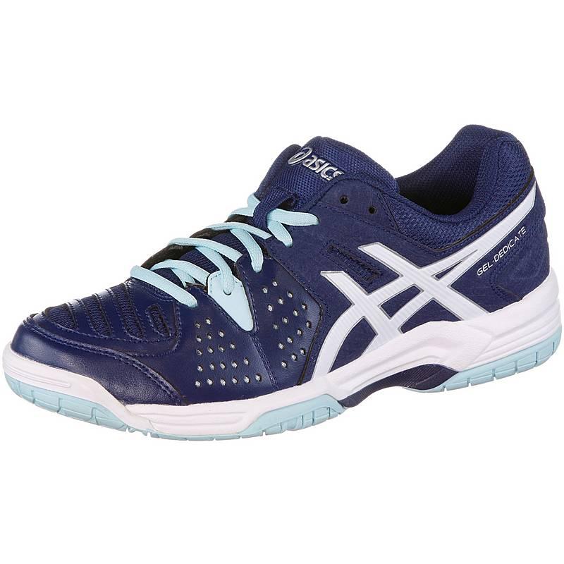 sale retailer baa14 f62ef ASICSGelDedicate 4 TennisschuheDamen dunkelblau weiß