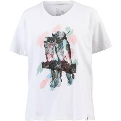 Cleptomanicx Tropical Printshirt Damen weiß