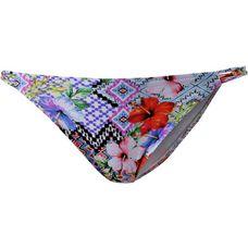 watercult Globe Trotter Bikini Hose Damen blau/rot