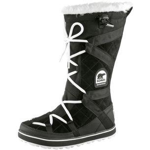 Sorel Glacy Explorer Stiefel Damen schwarz/weiß