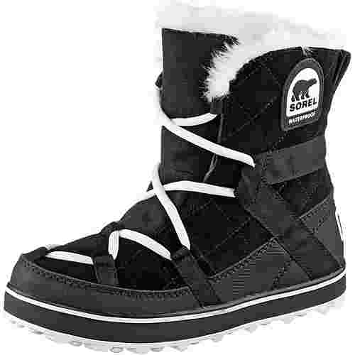 Sorel Glacy Explorer Shortie Winterschuhe Damen schwarz/weiß