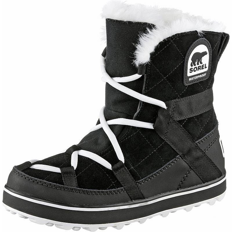 SorelGlacy Explorer Shortie  WinterschuheDamen  schwarz/weiß