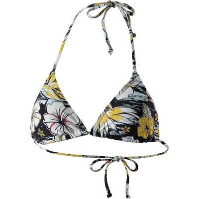 Billabong Tropical Bikini Oberteil Damen schwarz/gelb/weiß