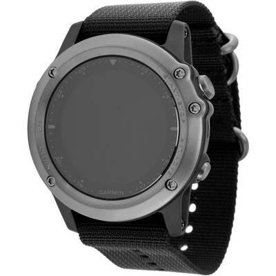 Garmin Fenix 3 Saphir Grau Leder+Nylonarmband Sportuhr grau