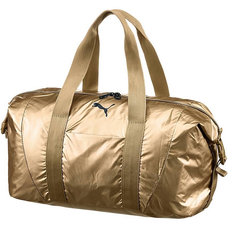 puma sporttasche schwarz gold