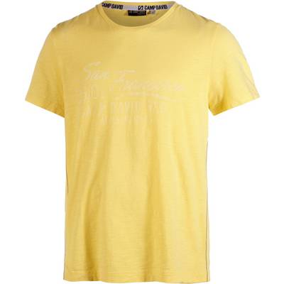 CAMP DAVID Printshirt Herren gelb