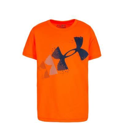 Under Armour Rising Pixelated Logo Funktionsshirt Kinder orange / dunkelblau