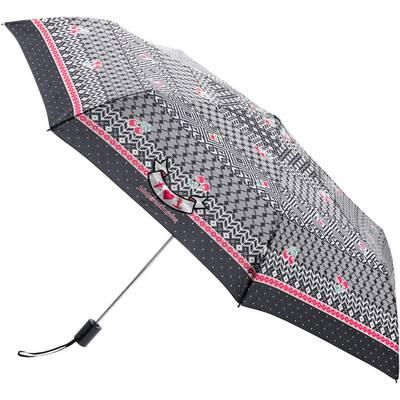 Blutsgeschwister Regenschirm Damen schwarz/grau