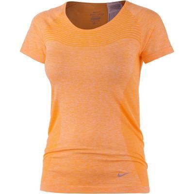 Nike Dri-Fit Knit Funktionsshirt Damen orange