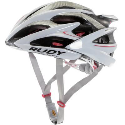Rudy Project Windmax Fahrradhelm weiß silber