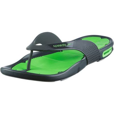 SPEEDO Poolsurfer Pantoletten grün/grau