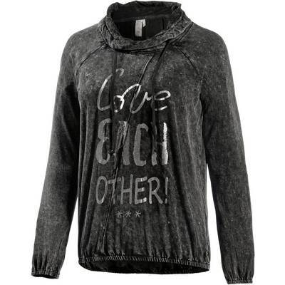 M.O.D Langarmshirt Damen schwarz washed