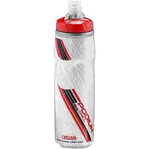 Camelbak Podium Big Chill Trinkflasche transparent/rot