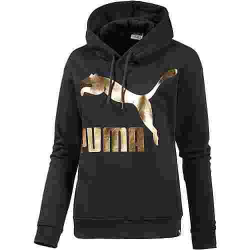PUMA Hoodie Damen schwarz/gold im Online Shop von SportScheck kaufen
