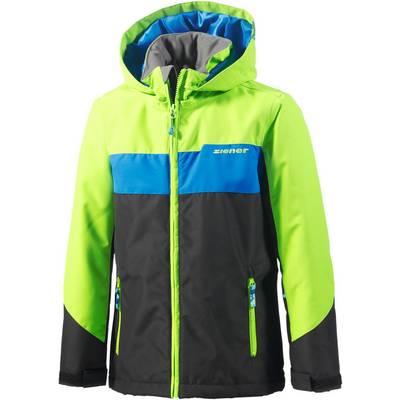 Ziener Skijacke Kinder schwarz/grün