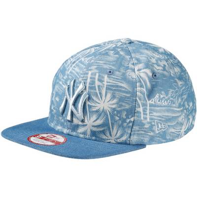 New Era Den Palm snap NY Yankees Cap hellblau