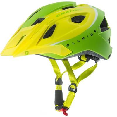 Cratoni Allride Fahrradhelm grün/gelb