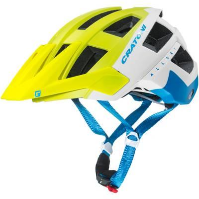 Cratoni Allset Fahrradhelm gelb/weiß