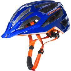 Cratoni C-Flash Fahrradhelm blau/orange
