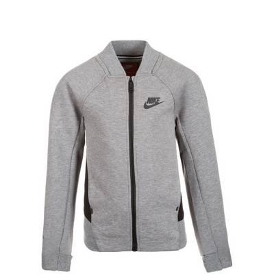 Nike Tech Fleece Bomber Trainingsjacke Kinder grau / schwarz