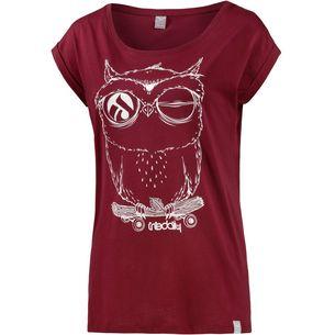 iriedaily Skateowl 2 Printshirt Damen rot/weiß