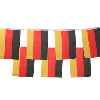 ID Merchandising Fahne schwarz/rot/goldfarben