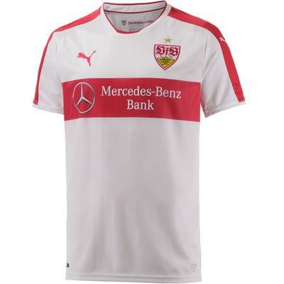 PUMA VfB Stuttgart 16/17 Heim Fußballtrikot Herren weiß/rot