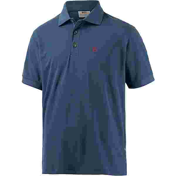 FJÄLLRÄVEN Crowley Pique Poloshirt Herren blau