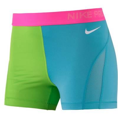 Nike Pro Tights Damen türkis/grün/pink