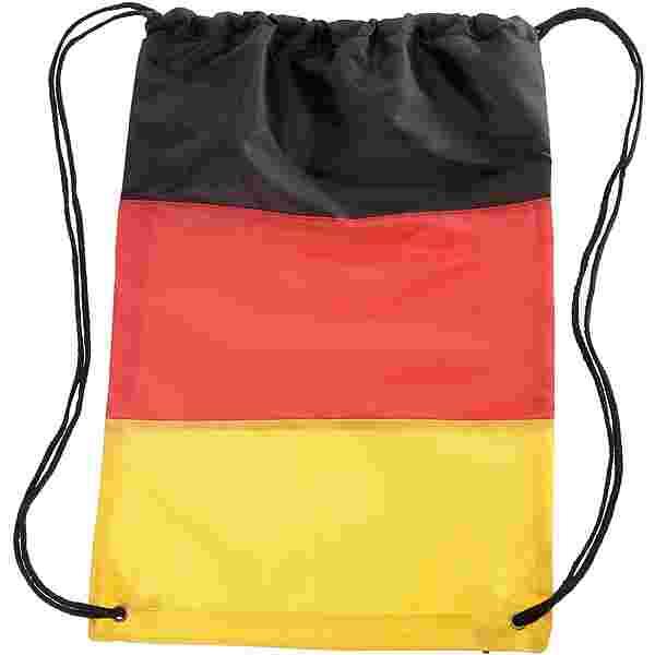 ID Merchandising Turnbeutel schwarz/rot/goldfarben