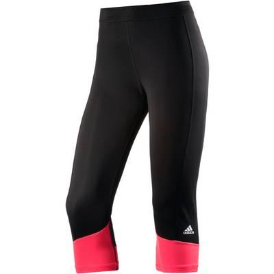 adidas Techfit Tights Damen schwarz/koralle