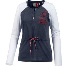 OCK Langarmshirt Damen blau