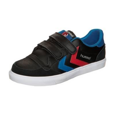 hummel Stadil Leather Low Sneaker Kinder schwarz / blau / rot