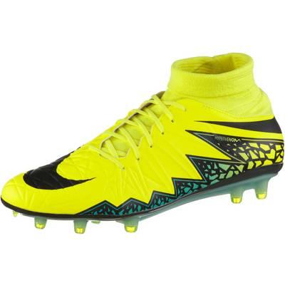 Nike HYPERVENOM PHATAL II DF FG Fußballschuhe Herren gelb/schwarz/türkis