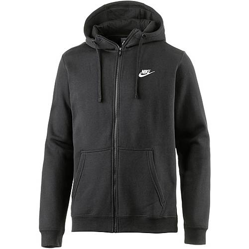 nike nsw club sweatjacke herren schwarz im online shop von. Black Bedroom Furniture Sets. Home Design Ideas