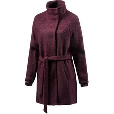 Ichi Wollmantel Damen bordeaux